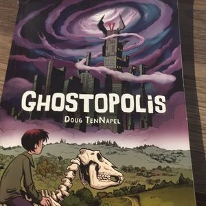 Book Ghostopolis by Doug Tennapel. Graphic novel